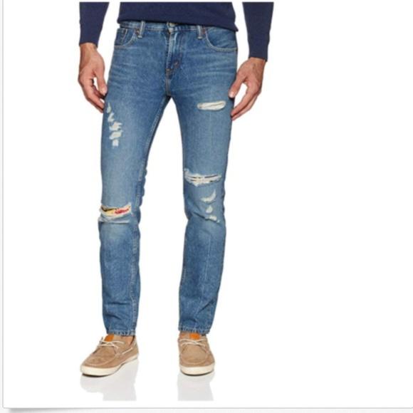 5b6901e2da809b Levi's Jeans | Levis Mens 511 Slim Fit Ripped Stretch Men | Poshmark